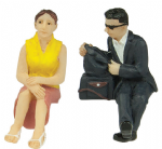 47-406 Scenecraft Sitting passengers C (pack of 2 figures)